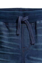 Super Soft denim joggers - Dark blue -  | H&M 4