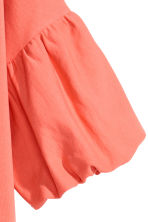 Balloon-sleeve top - Coral - Ladies | H&M CN 2