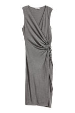 Knot-detail dress - Dark grey marl - Ladies | H&M CA 2