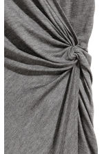Knot-detail dress - Dark grey marl - Ladies | H&M 3
