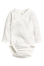 2-pack wrapover bodysuits - Natural white/Patterned -  | H&M 2