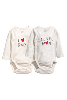 2-pack wrapover bodysuits