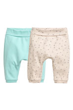 2-pack jersey trousers - Mint green - Kids | H&M 1