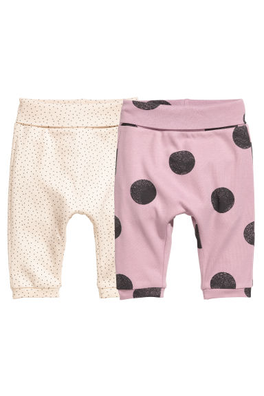2-pack jersey trousers - Pink - Kids | H&M 1