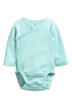 2-pack wrapover bodysuits - Mint green - Kids | H&M CN 2