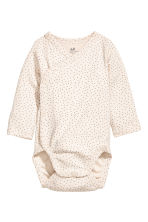 2-pack wrapover bodysuits - Pink - Kids | H&M CN 2