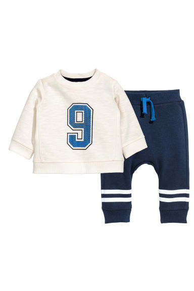 Sweatshirt and joggers - Dark blue - Kids | H&M 1