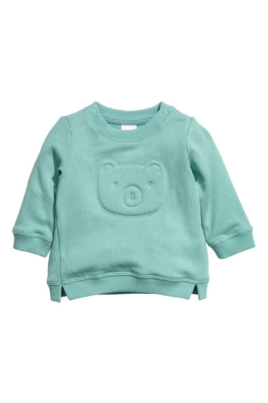 Cotton sweatshirt - Mint green -  | H&M CN