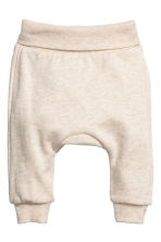 2-pack Cotton Pants - Taupe/natural white - Kids | H&M CA 2
