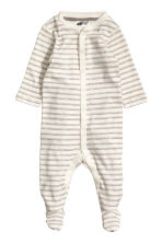 4-piece jersey set - Natural white/Patterned -  | H&M 2