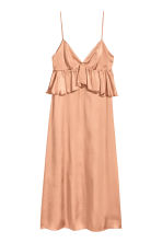 Abito in satin con scollo a V - Beige scuro - DONNA | H&M IT 2