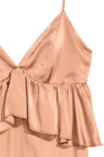 Abito in satin con scollo a V - Beige scuro - DONNA | H&M IT 3