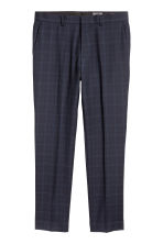Wool-blend trousers Slim fit - Dark blue/Checked - Men | H&M CN 2