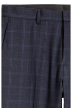 Wool-blend trousers Slim fit - Dark blue/Checked - Men | H&M CN 4