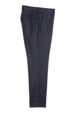 Wool-blend trousers Slim fit - Dark blue/Checked - Men | H&M CN 3