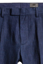 Linen suit trousers Slim fit - Dark blue - Men | H&M 4