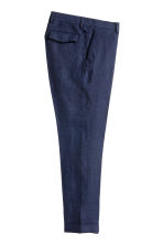 Linen suit trousers Slim fit - Dark blue - Men | H&M 3