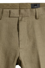 Linen Suit Pants Slim fit - Khaki green - Men | H&M CA 4