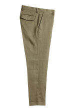 Linen Suit Pants Slim fit - Khaki green - Men | H&M CA 3