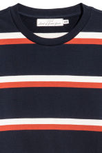 Striped cotton top - Dark blue/Striped - Men | H&M 3