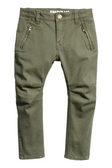 Twill trousers Shaped leg
