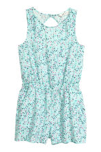 Patterned playsuit - Mint green/Floral -  | H&M 2