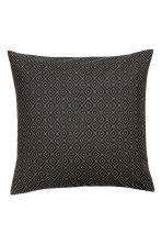 Cotton canvas cushion cover - Anthracite grey - Home All | H&M CN 1