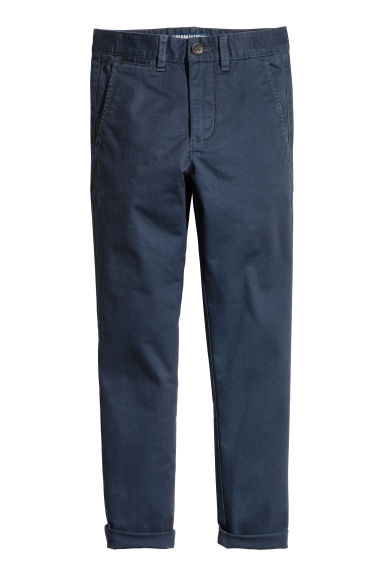 Generous fit Chinos - Dark blue -  | H&M 1