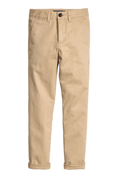 Generous fit Chinos - Beige - Kids | H&M FI 1