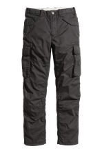 Lined cargo trousers - Black - Kids | H&M CN 1