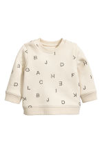Printed sweatshirt - Light beige - Kids | H&M CN 1