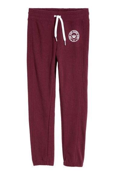 Fleece joggers - Burgundy -  | H&M