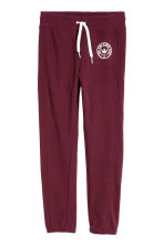 Fleece Joggers - Burgundy - Kids | H&M CA 1