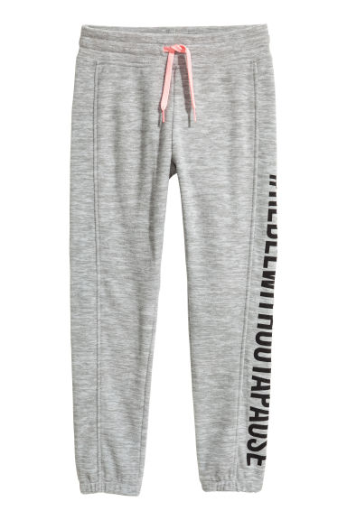 Fleece joggers - Grey marl - Kids | H&M 1