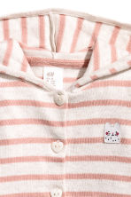 Hooded cardigan - Powder pink/White stripes -  | H&M 2