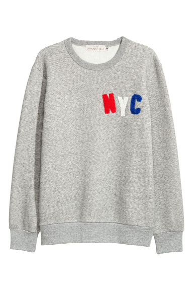 Sweatshirt - Grey marl -  | H&M GB