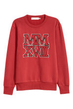 Sweatshirt - Red - Men | H&M 2
