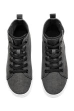 Hi-top trainers - Black washed out - Kids | H&M CN 2