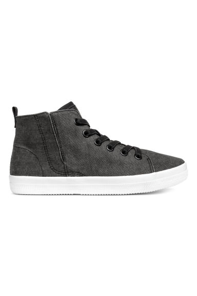Hi-top trainers - Black washed out - Kids | H&M CA