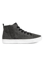 Hi-top trainers - Black washed out - Kids | H&M CN 1