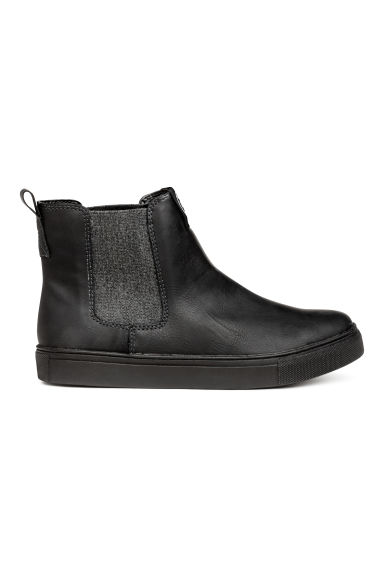 Warm-lined Chelsea boots - Black - Kids | H&M CN