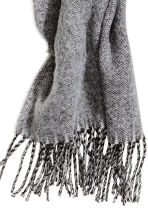Woven scarf - Grey/White - Ladies | H&M GB 2