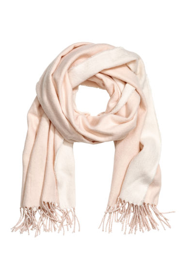 Woven scarf - Light powder pink - Ladies | H&M CN