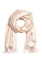 Woven scarf - Light powder pink - Ladies | H&M IE 1