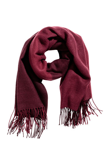 Large Scarf - Burgundy - Ladies | H&M CA