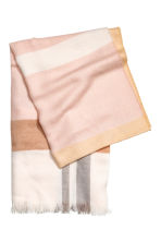 Woven scarf - Powder pink/Checked - Ladies | H&M 2