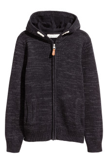 Knit Hooded Jacket