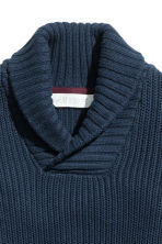 Shawl-collar jumper - Dark blue -  | H&M CN 3