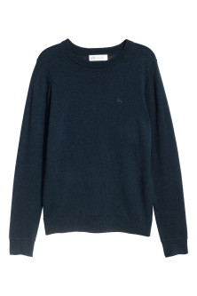 Fine-knit merino wool jumper