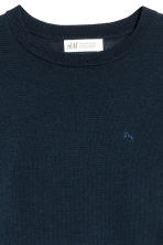 Fine-knit merino wool jumper - Dark blue - Kids | H&M CN 2